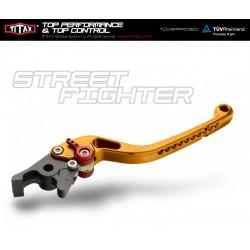 Levier de frein Titax Streetfighter Normal Jaune R22