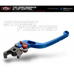 Levier de frein Titax Streetfighter Normal Bleu R22