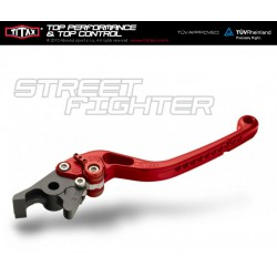Levier de frein Titax Streetfighter Normal Rouge R22