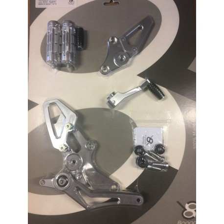 Rear Sets silver Bonamici Racing for Bmw R NineT 2014 / +